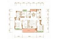 悦澜, 3室2厅2卫1厨, 建筑面积约129.57平米