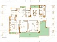 风吟, 3室2厅2卫1厨, 建筑面积约106.25平米