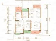 御景, 3室2厅2卫1厨, 建筑面积约132.87平米