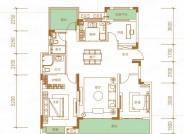 云栖, 3室2厅2卫1厨, 建筑面积约107.70平米