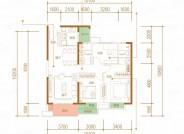 嘉苑, 3室2厅2卫0厨, 建筑面积约105.12平米